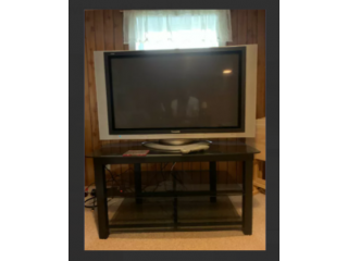 First generation Panasonic Plasma television with stand