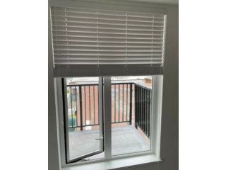 NEW- 2 inches White Laminate Blinds. - $45
