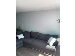 Large Grey L Sofa - like new