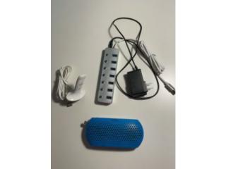 Usb hub 7 ports with individual power switch, free speaker