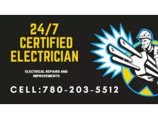 Electrician , Led Lights, Cameras 780-203-5512