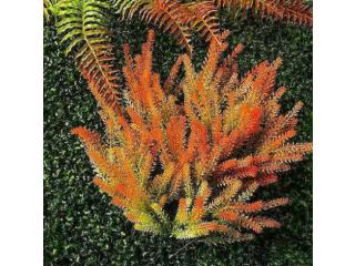 Primrue 6 Pack Artificial Plants & Flowers Orange Lavender Plant Faux Flowers Fake Plants For Grass Backdrop Wall Home G