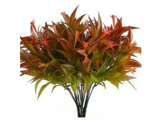 Primrue Fake Flower Plants Nahuaa 4PCS Artificial Morning Glory Shrubs Bundles Faux Plastic Bouquets Indoor Outdoor Tabl