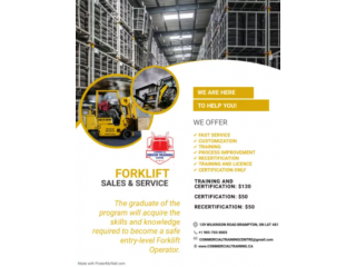 HURRY UP!! WALK IN ACCEPTED!! FORKLIFT CERTIFICATION ONLY @ $49