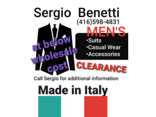 Italian Men's Designers Clothing _Wholesale and Clearance Prices