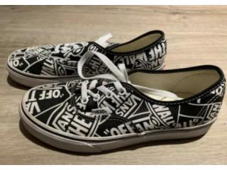 Vans Repeat Authentic Black/True White Shoes Size 5