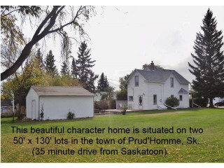 Beautiful Character Home for sale in Prud'homme,Sk
