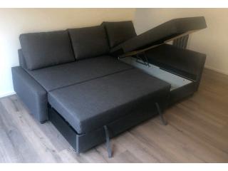 IKEA FRIHETEN Corner sofa-bed with storage. Grey.