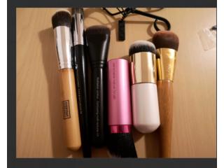 Makeup brushes bundle 6 brushes X 2 lash curler