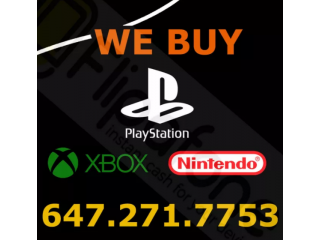 Buying Playstation - Xbox - Nintendo for CASH!